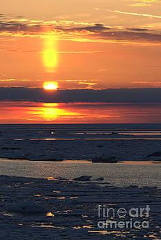Ice Reflection Sky 7 by John Scatcherd