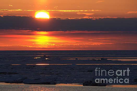 Ice Reflection Sky 8 by John Scatcherd