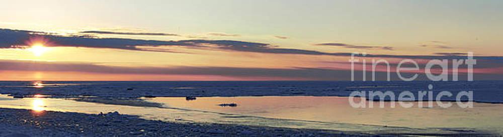 Ice Reflection Sky Pano by John Scatcherd