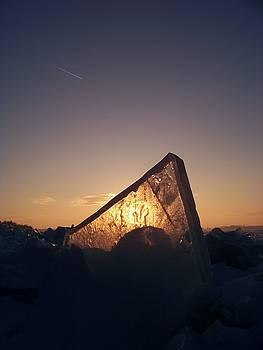 Ice Sunset by Deb Stroh Larson