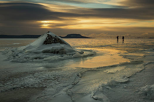 Ice Trail Hikers by Jakub Sisak