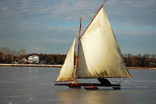 Ice Yachting by James Kirkikis