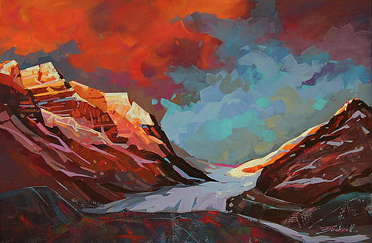 Icefields  Morning  by Brian Buckrell