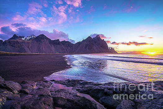 Iceland Beach Sunrise at Stokksnes by Mike Reid