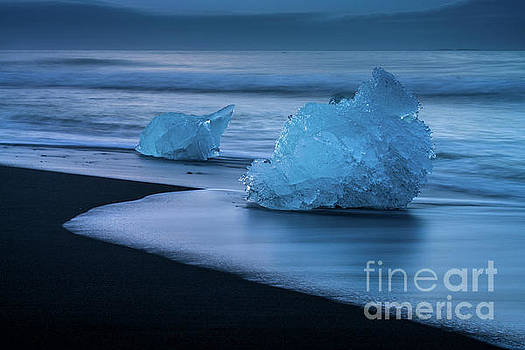 Iceland Blue Ice Monolith by Mike Reid