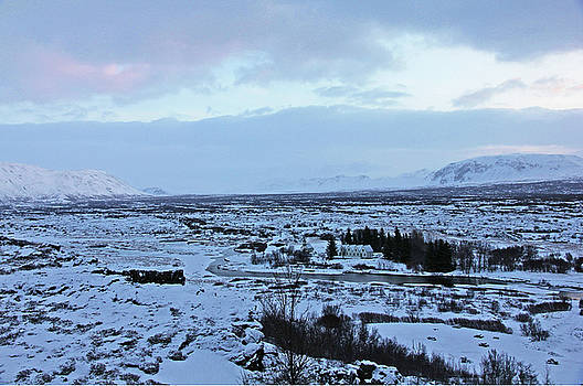 Iceland Country Side Clouds Mountains Stream Iceland Rocks Lake Clouds Iceland 2 2112018 0971 by David Frederick