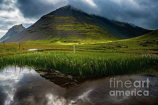 Iceland Dramatic Landscape Reflection by Mike Reid