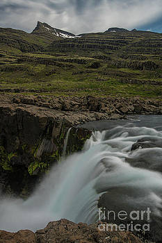 Iceland Edge of a Waterfall by Mike Reid