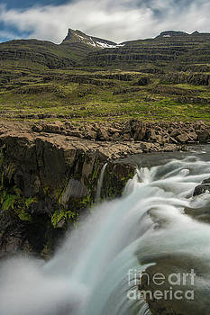 Iceland Fossardalur Falls Closeup by Mike Reid