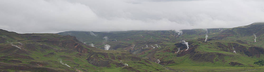 Iceland Geothermal Landscape - 1247,S by Wally Hampton