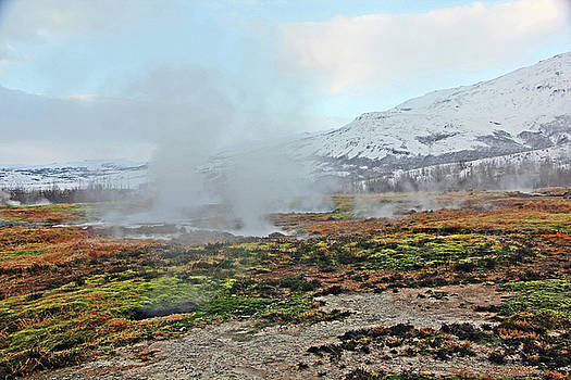 Iceland Geyser Park Mosses Grasses Vents Mountains Sky Iceland 2 2122018 1127.jpg by David Frederick