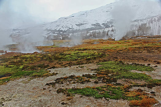Iceland Geyser Park Mosses Grasses Vents Mountains Sky Iceland 2 2122018 1134.jpg by David Frederick