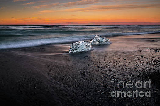 Iceland Glacial Ice Beach Motion by Mike Reid
