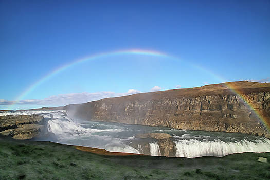 Iceland GullFoss Magnificent Waterfall by Betsy Knapp