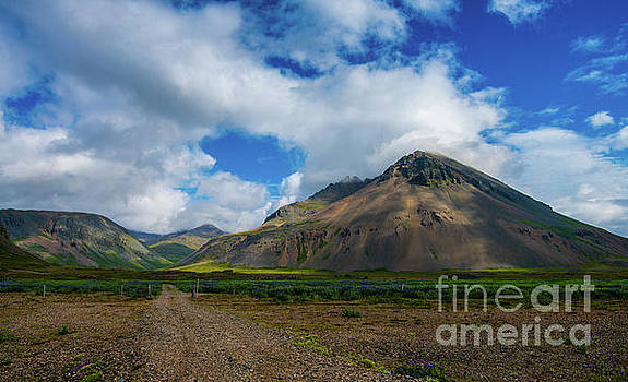 Iceland Hills Cloud Shadows by Mike Reid