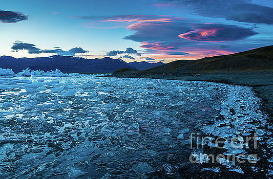 Iceland Jokulsarlon Ice Lagoon Sunset by Mike Reid