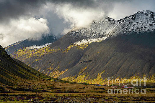 Iceland Light Moves Through the Valley by Mike Reid