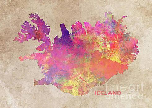 Justyna Jaszke JBJart - Iceland map