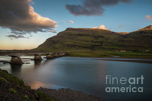 Iceland Ring Road Bridge at Sunset by Mike Reid