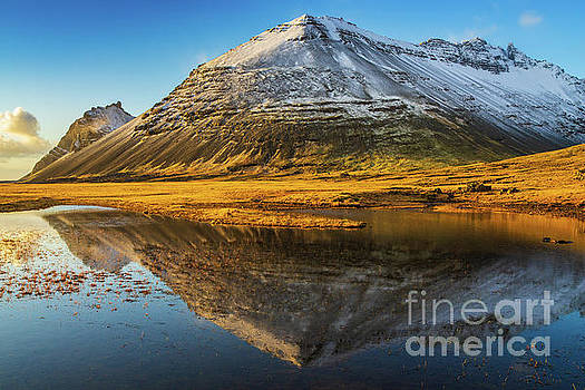 Iceland Ring Road Snow Capped Peaks by Mike Reid