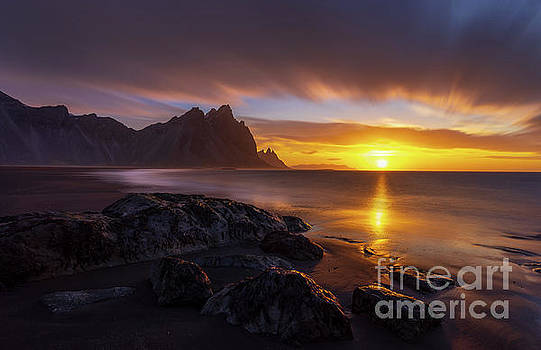 Iceland Stokksnes Dramatic Sunrise Landscape by Mike Reid