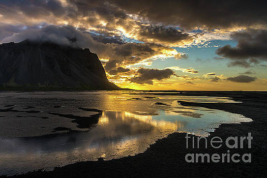 Iceland Stokksnes Liquid Sunrise by Mike Reid