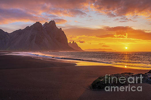Iceland Sunrise Beach Serenity by Mike Reid