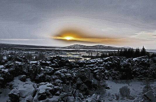 Iceland Sunrise Iceland Lava Field Streams Sunrise Mountains Clouds Iceland 2 2112018 1095.jpg by David Frederick