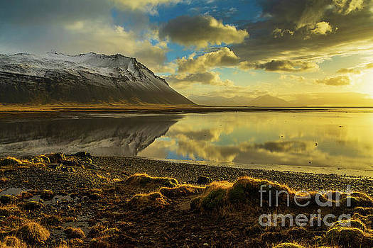 Iceland Sunrise Tranquility Reflection by Mike Reid