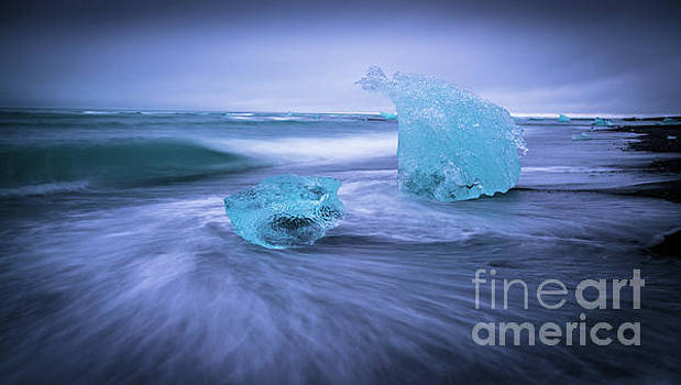 Iceland Swirling Cold Beauty by Mike Reid