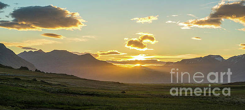 Iceland Vast Landscape Sunset Sunrays by Mike Reid