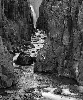 Iceland Waterfall - 6918,SW by Wally Hampton