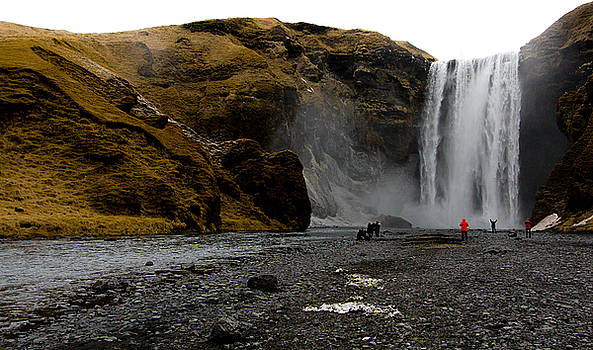 Skogafoss Waterfall by Jennifer Ansier