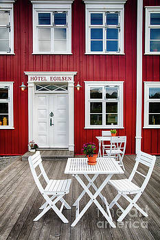 Icelandic Country Inn Entrance by George Oze