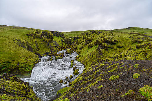 Icelandic Waterfall by Alex Blondeau