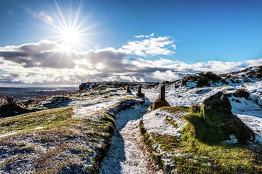 Icey Path in the Peaks by Nick Bywater