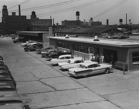 Chicago and North Western Historical Society - Parking Lot at Wood Street Yard - 1959