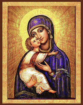 Icon Madonna and Infant Jesus by Ananda Vdovic