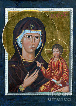 Icon of Our Lady of The Way by Juliet Venter Icons Illuminations