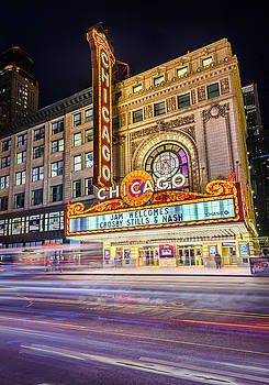 Iconic Chicago Theatre  by Zouhair Lhaloui