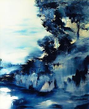 Icy Blue Abstract by Larry Ney  II