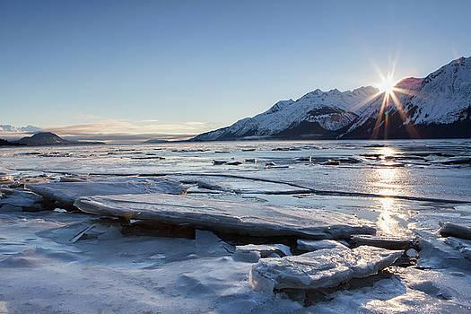Icy Chilkat Sunset by Michele Cornelius
