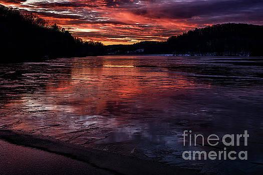 Icy Dawn on the Lake by Thomas R Fletcher