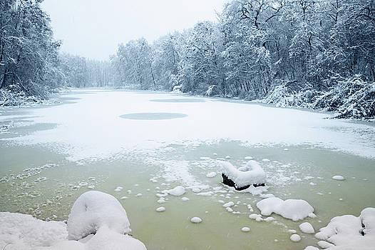 icy lake by Iuliia Malivanchuk by Iuliia Malivanchuk