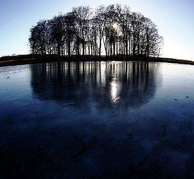 Icy lake by Cristina Rettegi