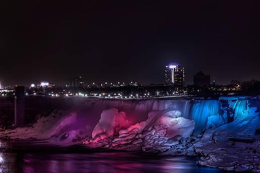 Icy Niagara At Night by Gary Campbell
