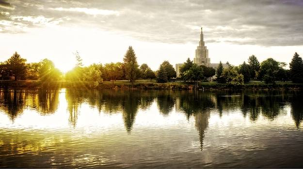 Idaho Falls Temple - Sunrise by Image Takers Photography LLC - Carol Haddon