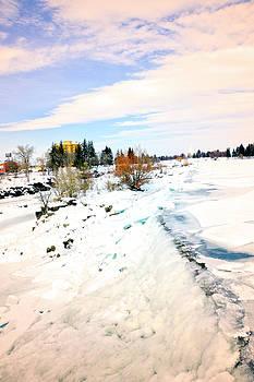 Idaho Falls - Winter At The Falls by Image Takers Photography LLC - Carol Haddon