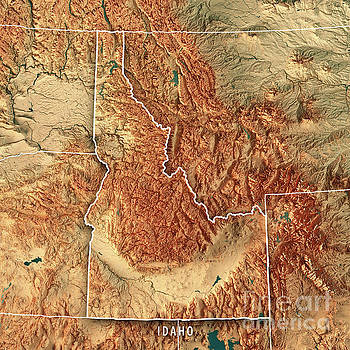 Us Mexico Border Topicgraphical Map Globalinterco - Contiguous us hillshade map
