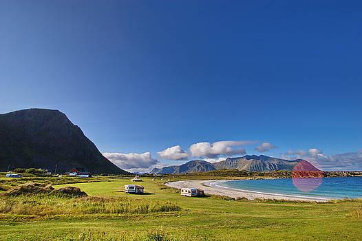 Idyllic camping site on Lofoten by Intensivelight